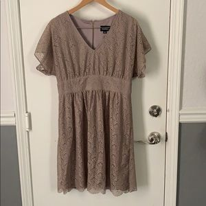 Adrianna Papell lined lace dress EUC 14